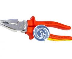 Плоскогубцы 200мм с изол.ручками сил. 1000В KN-0206200 (Knipex)