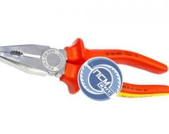 Плоскогубцы 200мм с изол.ручками 1000В KN-0306200 (Knipex)