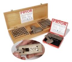 Клейма наборные буквенно-цифровые (Pryor)