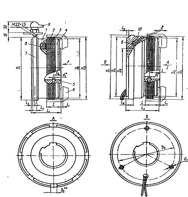 Электромагнитные муфты фрикционные многодисковые серии ЭТМ.